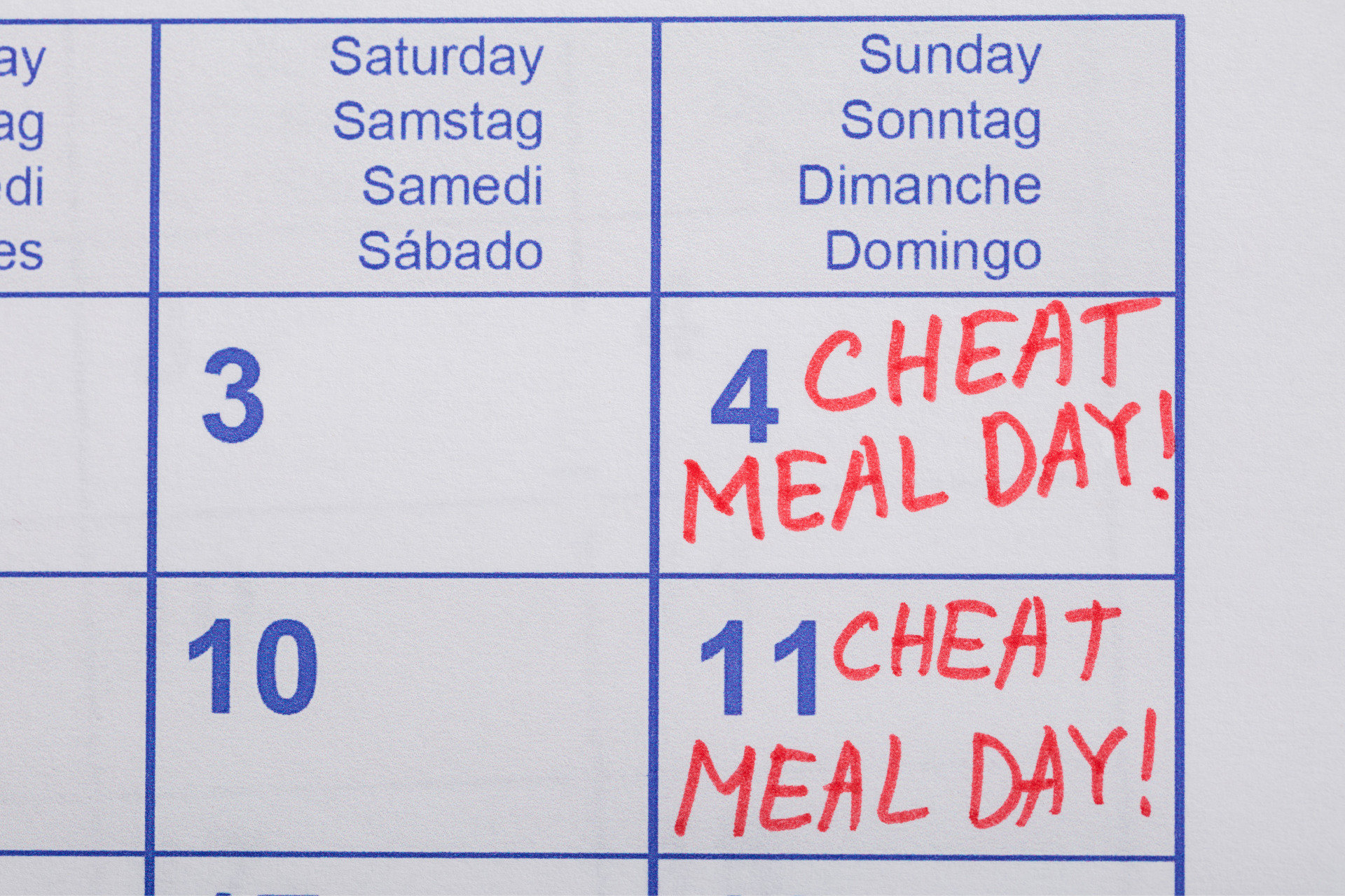 Lass deine Cheat Days aus